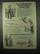 1975 Federal Cartridges Ad - Fired 3,000 In One Day