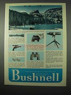 1975 Bushnell Optics Ad - Take to the Woods