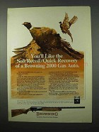 1975 Browning 2000 Gas Auto Shotgun Ad - Soft Recoil