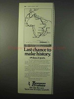 1975 Thomson Cruises Ad - Last Chance to Make History