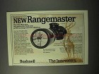 1975 Bushnell Rangemaster Scope Ad