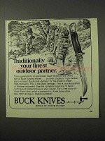 1975 Buck Knives Ad - Your Finest Outdoor Partner