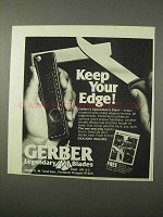 1975 Gerber Sportsman's Steel Ad - Keep Your Edge
