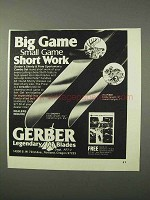 1975 Gerber Shorty and Pixie Knives Ad - Short Work