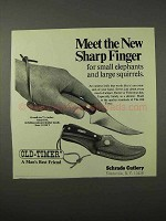 1975 Schrade Old-Timer Sharp Finger Knife Ad