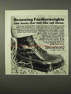 1975 Browning Featherweight Boots Ad - Like Old Shoes