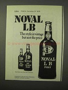 1975 Noval LB Port Ad - The Style is Vintage Not Price
