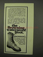 1975 Browning Waterproof Boot Ad