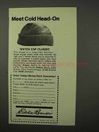 1975 Eddie Bauer Watch Cap Classic Ad - Meet Cold