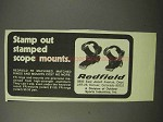1975 Redfield Mounts Ad - Stamp Out Stamped Mounts
