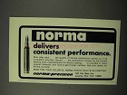 1975 Norma Ammunition Ad - Consistent Performance