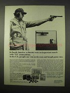 1974 Winchester T22 Ammunition Ad - In South America