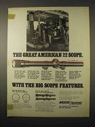 1974 Weaver V22 Scope Ad - The Great American 22 Scope
