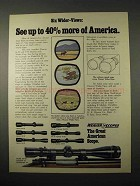 1974 Weaver Scopes Ad - See up to 40% More