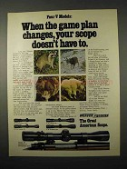 1974 Weaver V Model Scopes Ad - Game Plan Changes