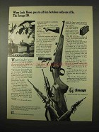 1974 Savage Model 110-CL, 170, 110-D and 99-A Rifles Ad