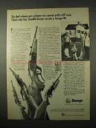 1974 Savage 110-C, 99-A, 99-C and 170 Pump Rifles Ad