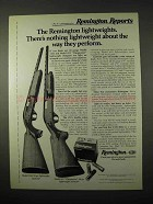 1974 Remington Model 1100 & 870 Wingmaster Shotguns Ad