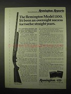 1974 Remington Model 1100 Shotgun Ad - Success