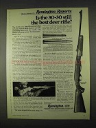 1974 Remington 760 ADL Rifle Ad - Best Deer Rifle