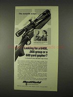 1974 Redfield RM 6400 Target Scope Ad - Versatile
