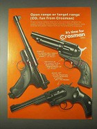 1974 Crosman Mark II, Frontier 36 & Model 38T Gun Ad