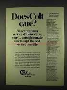 1974 Colt Firearms Ad - Does Colt Care?