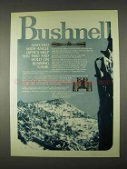 1974 Bushnell Optics Ad - Matched Wide-Angle Optics