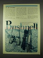 1974 Bushnell Optics Ad - On The Far Ridge