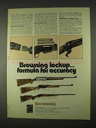 1974 Browning Rifle Ad, Grade IV BAR, BLR, 78 Octagonal