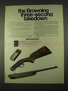 1974 Browning .22 Automatic Rifle Ad - Three-Second