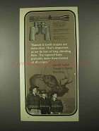 1974 Bausch & Lomb Optics Ad - Scopes Are Extra Clear
