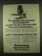 1974 Firestone Steel Radial 500 Tires Ad - 40,000 Mile