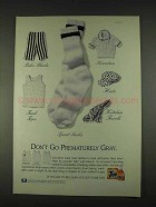 1996 Tide with Bleach Detergent Ad - Prematurely Gray