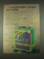 1996 Luvs Ultra Leakguards Diapers Ad - Save Money