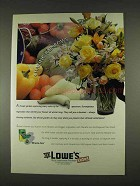 1996 Lowe's Miracle-Gro All Purpose Plant Food Ad