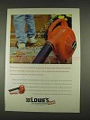 1996 Lowe's Homelite Bandit Blower Ad - Kid Next Door