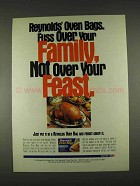 1996 Reynolds Oven Bags Ad - Family Feast