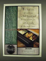1996 Thermador Warming Drawer Ad - Rule of Cooking