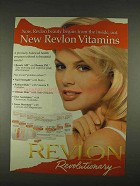 1996 Revlon Beauty AM and Beauty PM Vitamins Ad
