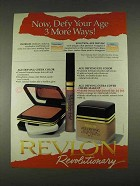 1996 Revlon Age Defying Makeup Ad - Defy Your Age