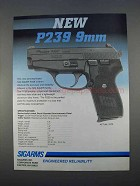 1996 Sigarms P239 9mm Pistol Ad