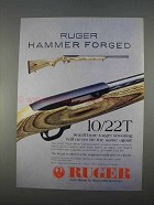 1996 Ruger 10/22T Rifle Ad - Hammer Forged