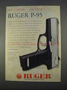 1996 Ruger P-95 Pistol Ad - Better Less Costly