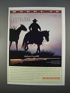 1996 Winchester Model 70 Rifle Ad - Live the Legend