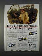 1996 Bausch & Lomb Riflescopes Ad - Elite