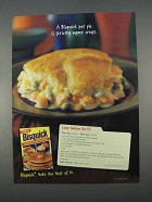 1996 Bisquick Baking Mix Ad - Easy Chicken Pot Pie