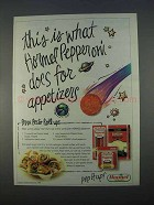 1996 Hormel Pepperoni Ad - Does For Appetizers