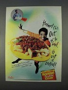 1996 Hormel Turkey Chili Ad - Out of Bowl