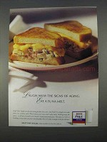 1996 Kraft Free Singles Ad - Eat a Tuna Melt